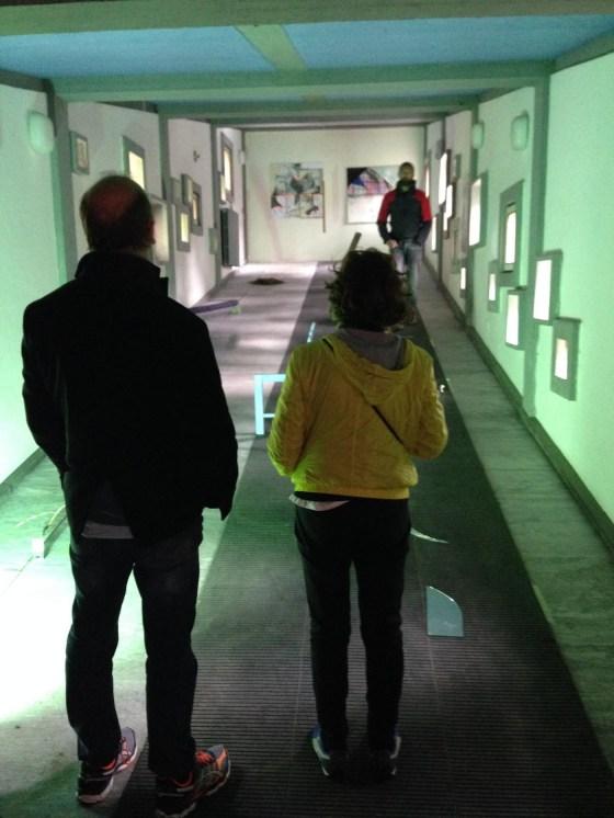 Willy Merz e Maria Centonze in visita ad una delle mostre allestite a Borca, foto C. H. Andersen_Luka Sirok:Dynamics of continuous elements