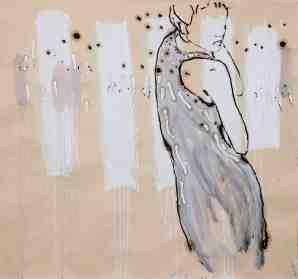 Antonio De Luca, Grigio delicato, olio su carta intelaiata, cm 130 x 130, dalla mostra Sweet lines 2013 Courtesy Galleria Il Vicolo