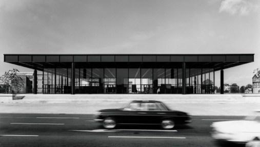 Neue Nationalgalerie, Exterior view, 1968 © Archiv Neue Nationalgalerie, Nationalgalerie, Staatliche Museen zu Berlin, photo: Reinhard Friedrich