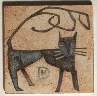 Mirco De Nicolò, Sketch 13, ceramica 20x20 cm