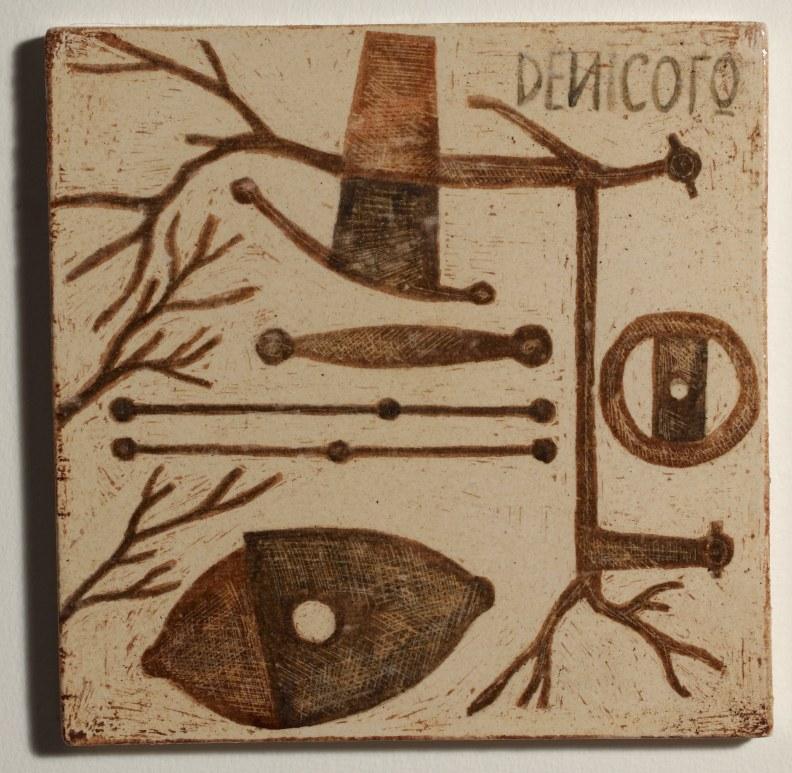 Mirco De Nicolò, Sketch 14, ceramica 20x20 cm