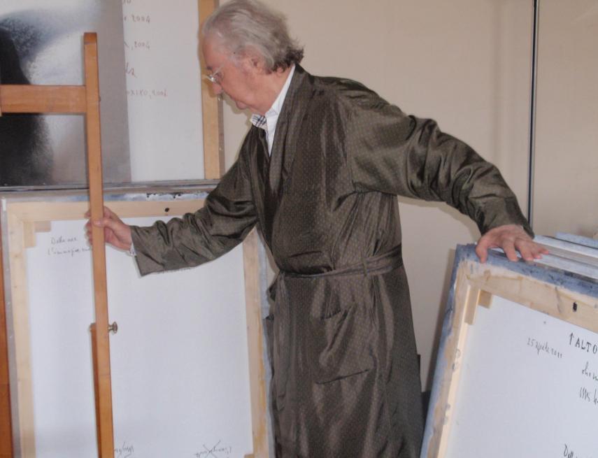 Vasco Bendini nello studio, Parma, 18 giugno 2011