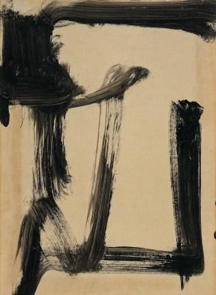Vasco Bendini, dalla serie Segni segreti, 1950, tempera su carta intelata, 60x43 cm