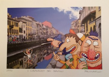 Enrico Macchiavello_I ciaparatt dei navigli_Digital Art Print_25x35, courtesy Artematta