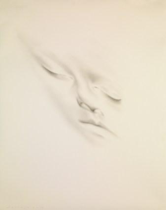 Jaume Plensa, Slumberland XIV (Natalie), 2014 Graphite on paper 143 x 113 cm Photo: Fotograpfia Gasull