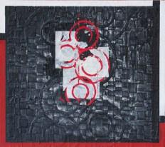 Roberto Floreani, Ricognizioni del cuore IV, 2015, tecnica mista su tela, cm 40x45