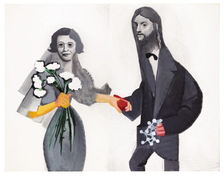 Beppe Devalle, Play Off (Keith Haring, Pablo Picasso), 2003, collezione privata
