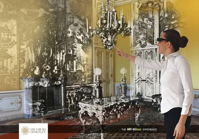 Mai stata così Reale!, visita con ARtGlass® agli Appartamenti Privati al Secondo Piano Nobile, Appartamento degli Imperatori di Germania, Villa Reale, Monza