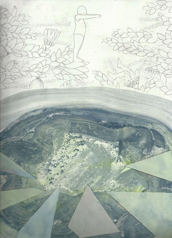 Elisa Bertaglia, Brutal Imagination, 2016, olio, carboncino e grafite su carta, cm 30x22