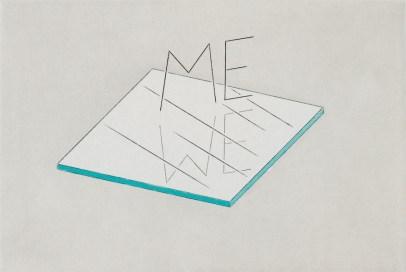 Markus Raetz, ME–WE (Dix. Muhammad Ali), 2007, eliografia e acquatinta a colori, 159x237 mm © 2016 Markus Raetz, Prolitteris, Zürich