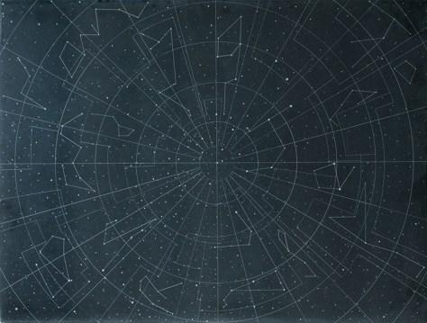 Dario Goldaniga, Mappa Stellare, 2016, incisioni su lavagna, 90x120 cm, esemplare unico