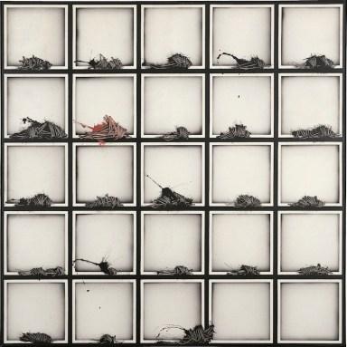 Emilio Scanavino, Alfabeto senza fine, 1974, olio su tela, 150x150 cm