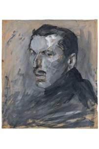 Umberto Boccioni, Autoritratto, 1909, carboncino, tempera e pastello su carta, 435×383 mm, Milano, Civico Gabinetto dei Disegni del Castello Sforzesco