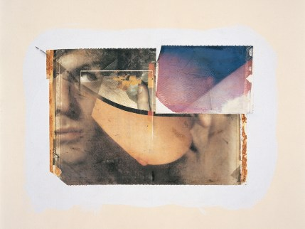 Paolo Gioli, Autoanatomie (Self-Anatomies), 1987, Polaroid on silk, acrylic, pencil, paper