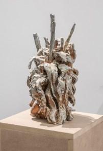 Francesco Simeti, The Wilds V, 2015, wood fire ceramic, 38x20x21 cm