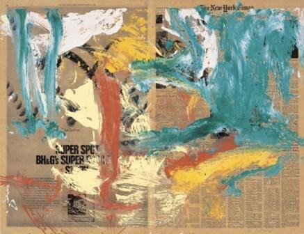 Willem de Kooning, Senza titolo, 1970, olio su carta da giornale su tela, 57.2x74.5 cm, Collezione Annette e Peter Nobel