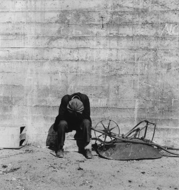 Man Beside, Wheelbarrow, San Francisco, California, 1934