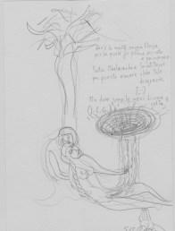 """Sabina Mirri, """"dov'è la molto saggia Eloisa"""" Matita su carta, Courtesy Passaggi Arte Contemporanea"""