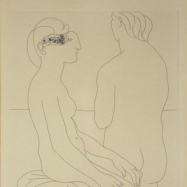 Pablo Picasso, Femme assise e Femme de dos,1934, acquaforte, 27.8x19.8 cm