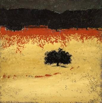 Carlo Mattioli, Paesaggio d'estate, 1981, olio su tela, 64x63 cm, Collezione privata Crediti Archivio Mattioli
