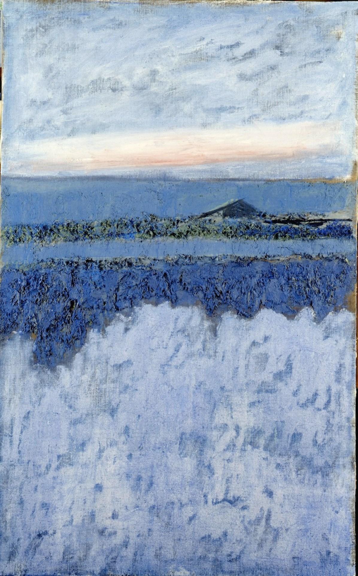 Carlo Mattioli, Spiaggia, 1988, olio su tela, 153x95 cm, Collezione privata Crediti Archivio Mattioli