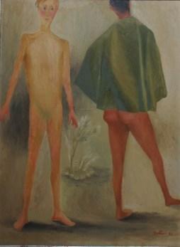 Renato Guttuso, Il congedo, 1934, olio su tavola, 70x52 cm