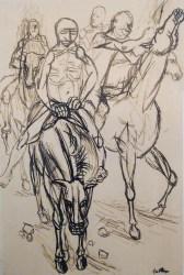 Renato Guttuso, Studio per la crocefissione, 1940, china su carta, 32x22 cm