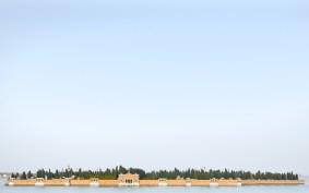 Luca Lupi, Landscape San Michele, Venezia, 2015, archival pigment print, 20x32 cm