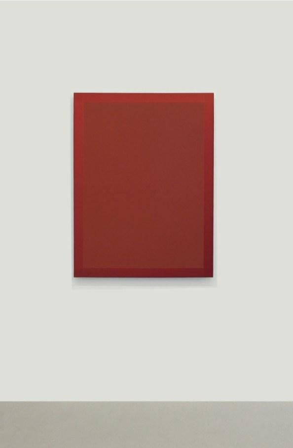 Winston Roeth, Portrait in Transparent Red, 2015, pigmenti Kremer e dispersione di poliuretano su pannelli di alluminio Dibond, 101.6x76.2 cm