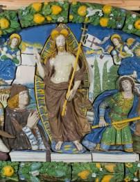 Giovanni Della Robbia (Firenze 1469 - 1529/1530), Resurrezione di Cristo, (particolare), 1520-25 circa, terracotta invetriata, New York, Brooklyn Museum