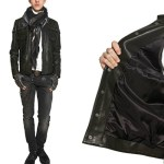 KARL LAGERFELD LEATHER JACKET FALL 2012