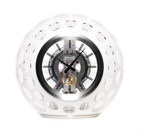 Atmos Hermes Jaeger-LeCoultre Les Cristalleries de Saint-Louis clock bubble luxury release price cost buy purchase