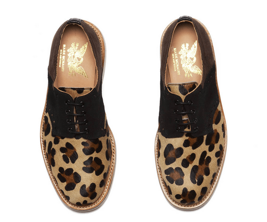 Mark McNairy Bodega Animal print saddle brogue derby shoes limited edition launch sale buy purchase price