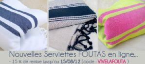 serviettes fouta drap de plage pas cher le blog la v. Black Bedroom Furniture Sets. Home Design Ideas
