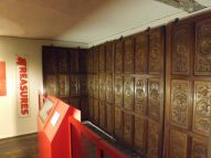 Epping Forest District Museum - carved wood panels - some of the earliest known