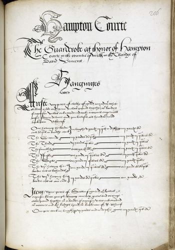 Inventory of Henry VIII's assets on his death