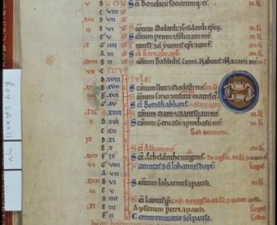 Royal 2 A XXII   f. 7v Cancer ('The Westminster Psalter')
