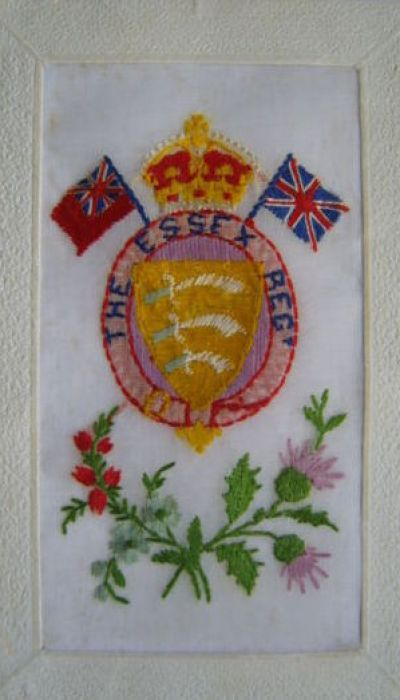 Essex Regiment Silk Postcard
