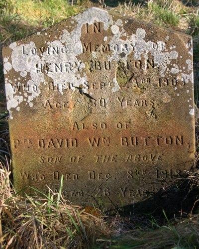 David William Button - died of starvation 1918