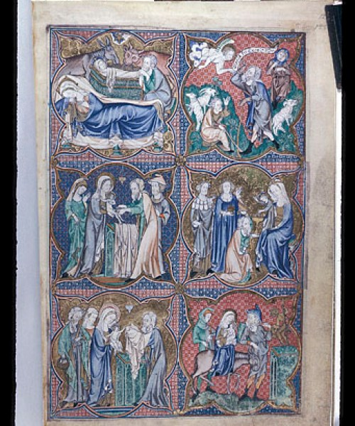 Arundel 83 f.124 Scenes from the life of Christ