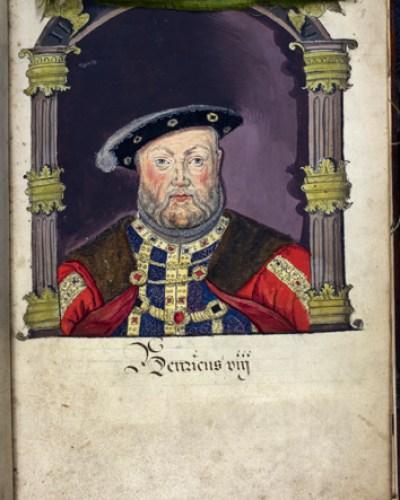 Egerton 2572 f.8 Henry VIII