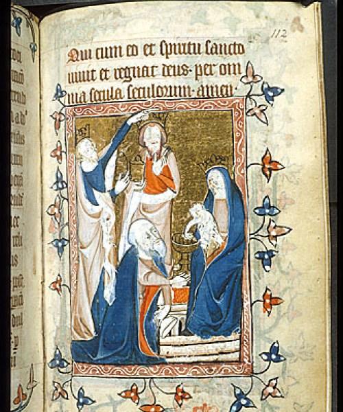 Egerton 2781 f.112 The Adoration of the Magi