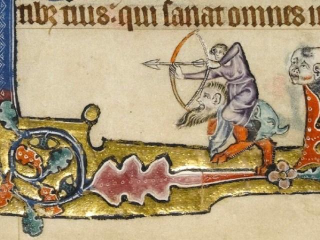 Macclesfield Psalter - folio 143v - The Archer