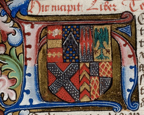 Royal 18 A XII f.49 Arms of Anne Neville (wife of Richard III)