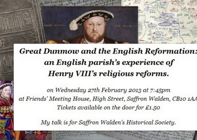 Great Dunmow and the Reformation