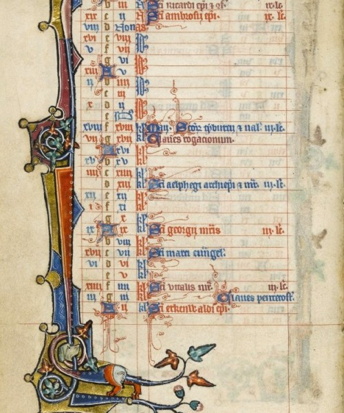 Macclesfield Psalter - March