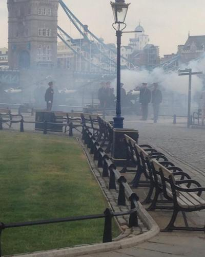 62 Gun Salute celebrating the Duke & Duchess of Cambridge's Royal Baby