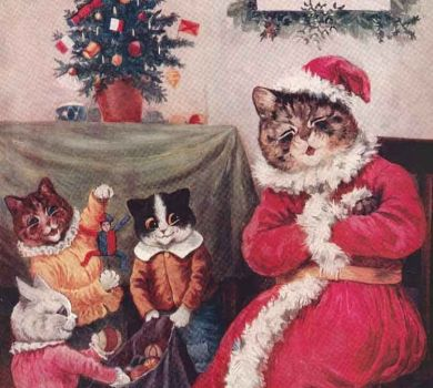 Louis Wain Christmas Card