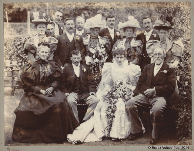 Stacey of Great Dunmow - late Victorian wedding party