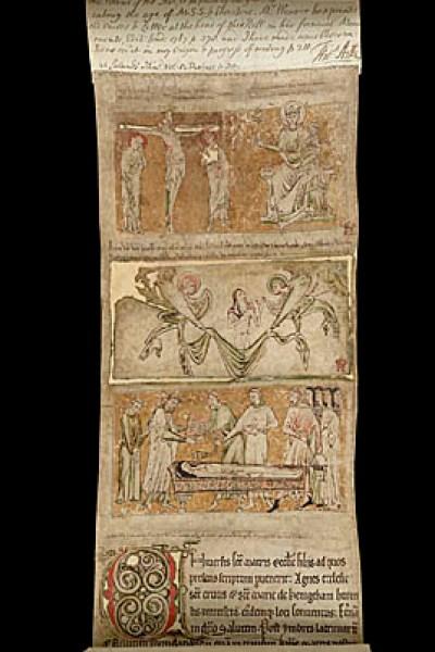 Mortuary roll of Lucy de Vere, Castle Hedingham